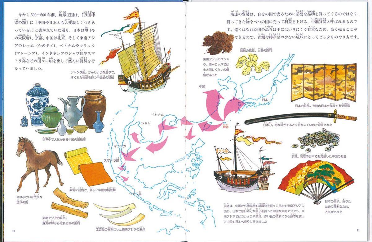絵本「琉球という国があった」の一コマ2