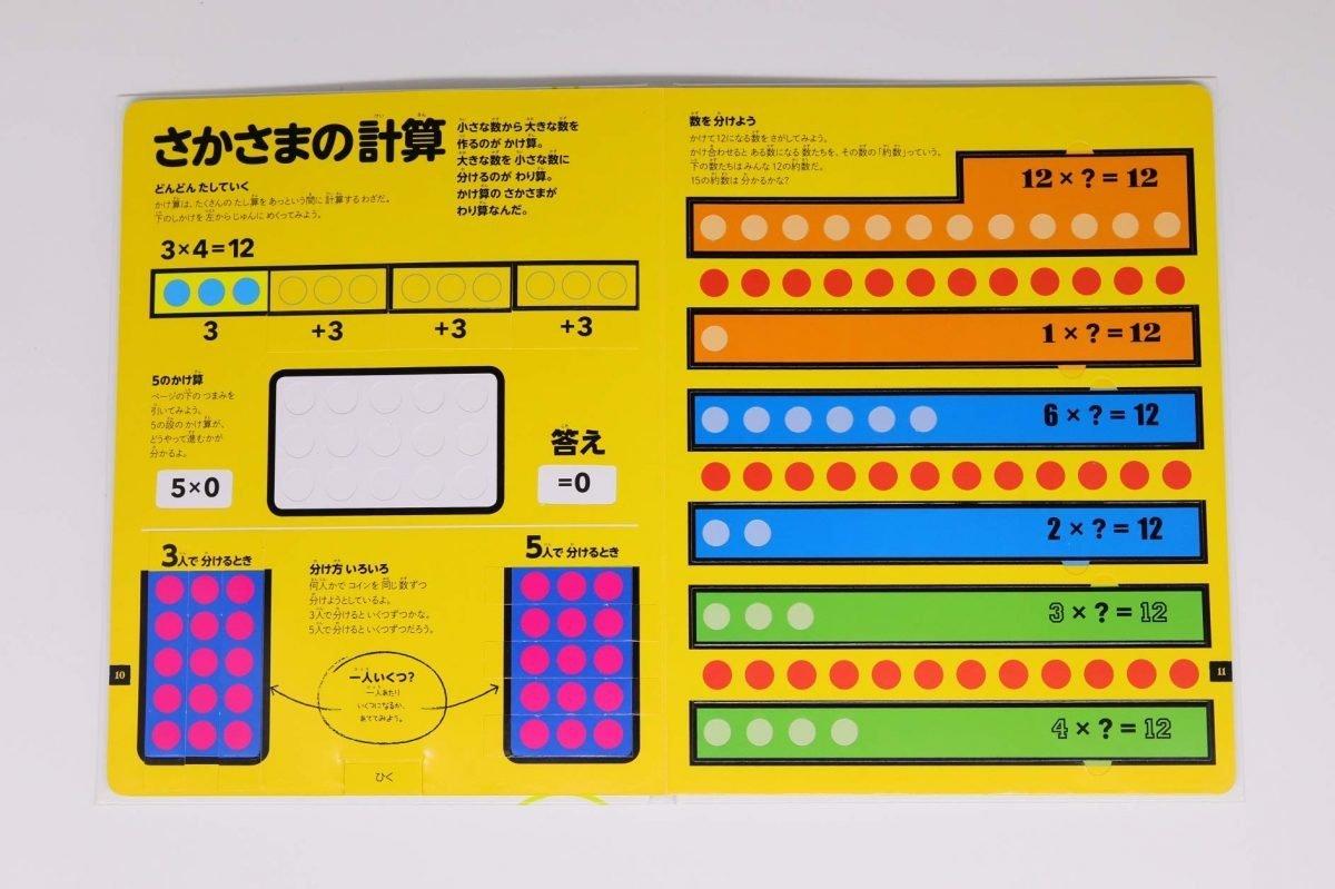 絵本「さわって学べる算数図鑑」の一コマ8