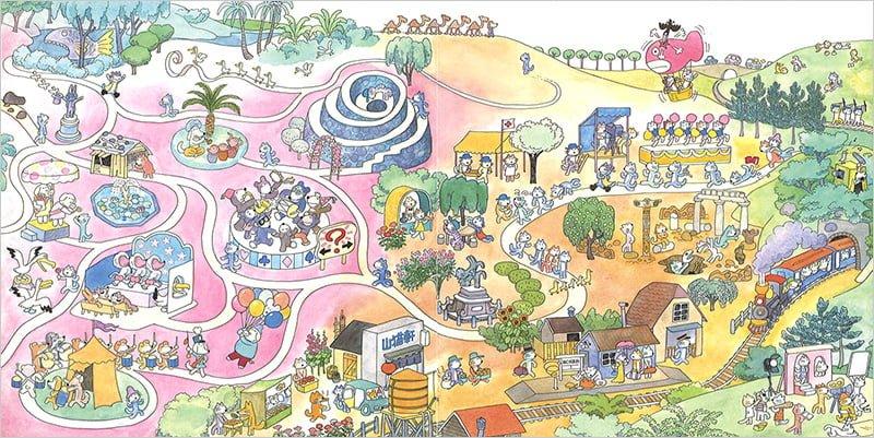 絵本「絵巻えほん 11ぴきのねこマラソン大会」の一コマ2