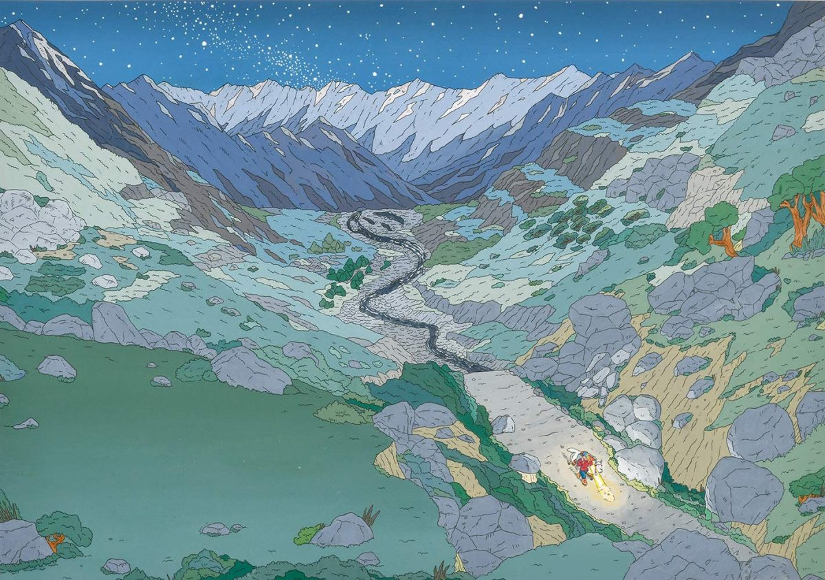 絵本「シェルパのポルパ 冬虫夏草とおおきなヤク」の一コマ2