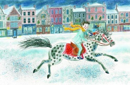 絵本「テオのふしぎなクリスマス」の一コマ2