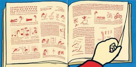 絵本「ケープドリ はつめいのまき」の一コマ