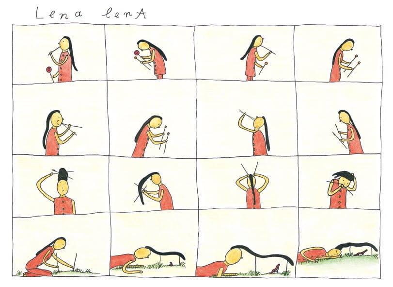 絵本「レナレナ」の一コマ